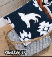 Luxury Toss Pillow Wolf Paw