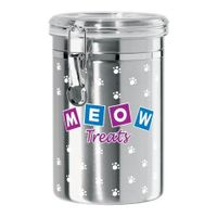 Meow Stainless Steel Treat Jar