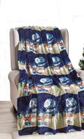 Midnight Snowman Throw Blanket