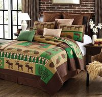 Moose Wilderness Full/Queen Quilt Ensemble