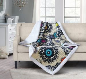 Nadira Quilted Sherpa Throw