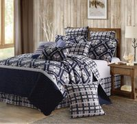 Nine Patch Star Midnight Quilt King