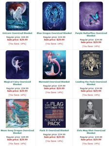NEW TODAY!  HOT NEW BLANKETS!  Special Intro Pricing!
