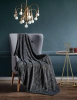 Parisa Silver Series Luxury Throw Blanket