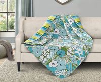 Parisian Poppies Quilted Throw