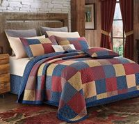 Patriotic Charm King Quilt Ensemble