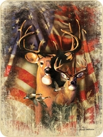 Patriotic Deer Perfect Size Throw