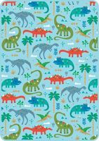Perfect Size Throw (Playtime Dinos)