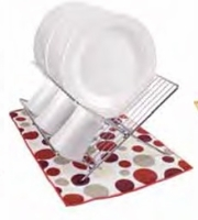 Polka Dot Micofiber Dish Drying Mat:  Crimson