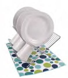 Polka Dot Micofiber Dish Drying Mat:  Surf