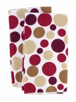 Polka Dot Micofiber Dish Towels:  Crimson