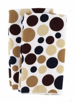 Polka Dot Micofiber Dish Towels:  Pebble
