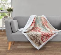 Portofino Quilted Sherpa Throw