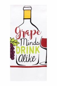 Printed Kitchen Towels Grape Minds