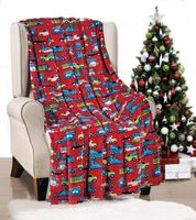 Red Christmas Cars Throw Blanket