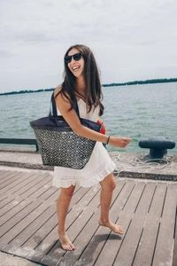 Resort Collection 2-in-1 Navy Tote Bag