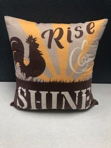 Rise & Shine Rooster Toss Pillow