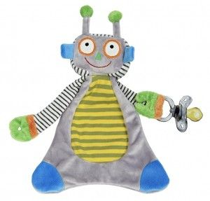 Robbie The Robot Pacifier Blankie