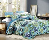 Silk Road Pastel King Quilt Ensemble
