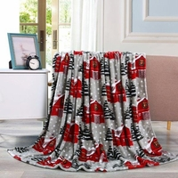 Snowy Barn  Throw Blanket