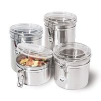 Stainless Steel Canister 4 pc Set