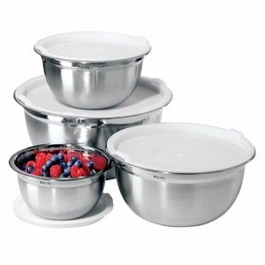 Stainless Steel Mixing Bowls w/Lids