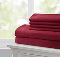 Super Soft 2100 Series Burgundy Sheet Set