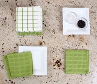 Terry Dish Cloths (Cactus Green)