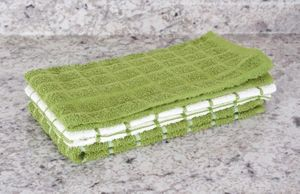 Terry Kitchen Towels (Cactus Green)