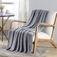 The Versailles Collection Deluxe Throw Gray