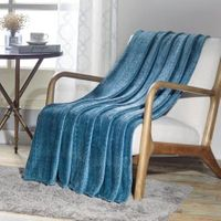 The Versailles Collection Deluxe Throw Teal