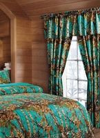 Woods Teal Curtains