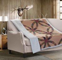 Wedding Ring Quilted Sherpa Throw