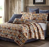 Wild & Free Navy Full/Queen Quilt Ensemble