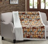Wild & Free Quilted Sherpa Throw