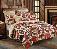 Wildlife Watch King Quilt Ensemble