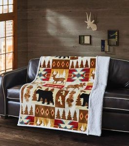 Wildlife Watch Flannel Sherpa Throw