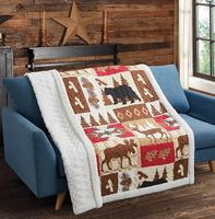 Wildlife Watch Quilted Sherpa Throw