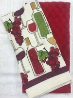 Wine Bottle Dish Towel Set