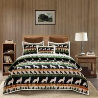 Wolf & Hawk Full/Queen Flannel Sherpa Bedding Collection
