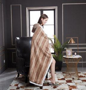 Wooden Ribbon Hooded Throw