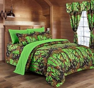 Woods Bio Hazzard Green Curtains