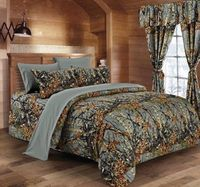 Woods Gray King Bed Sheets