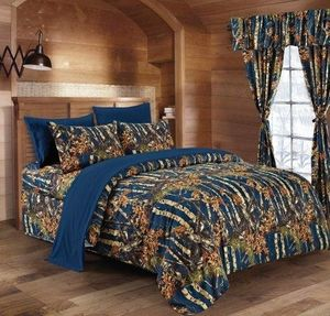 Woods Navy King Comforter