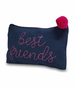 Best Friend Cosmetic Bag|Embroidered