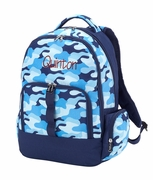 Blue Camo Backpack|Monogram