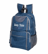 Blue Heathered Deluxe Backpack