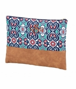 Boho Damask Accessory Pouch|Monogram