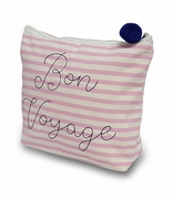 Bon Voyage Cosmetic Bag|Embroidered