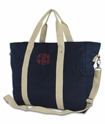 Canvas Getaway Tote Bag - Monogram|Personalized